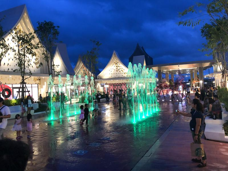 Samutprakarn, Thailand - August 31, 2019 : Central Village Bangkok Luxury Outlet is Thailand first international outlet shopping royalty free stock images