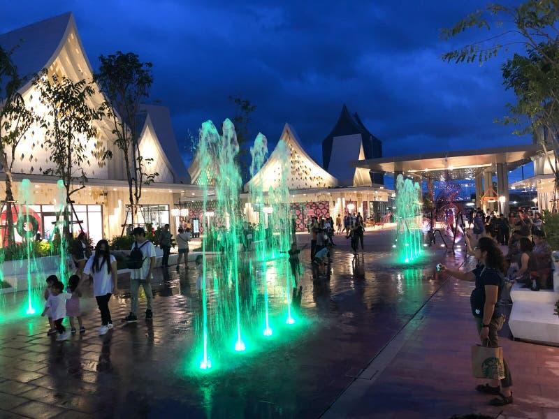 Samutprakarn, Thailand - August 31, 2019 : Central Village Bangkok Luxury Outlet is Thailand first international outlet shopping royalty free stock image