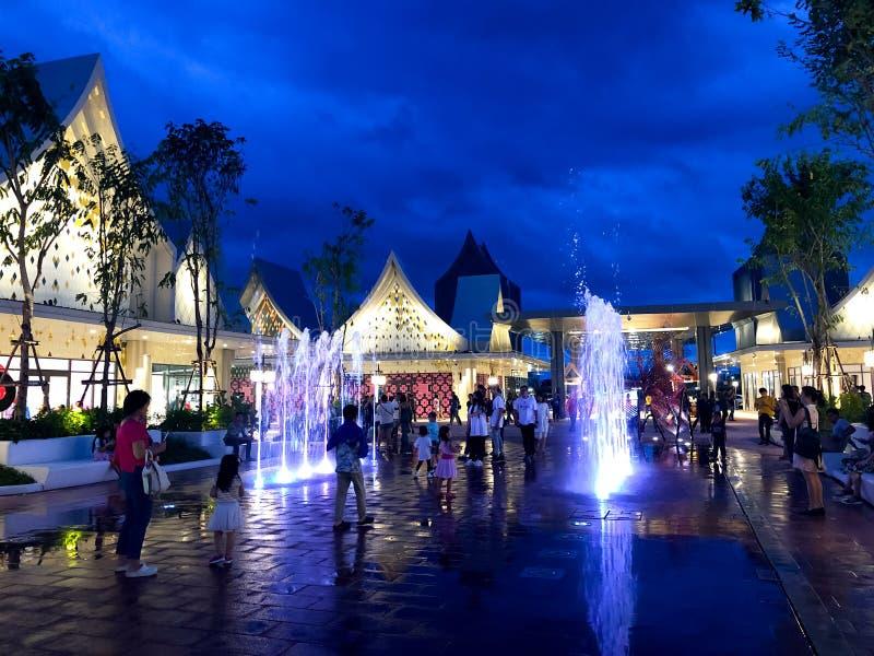Samutprakarn, Thailand - August 31, 2019 : Central Village Bangkok Luxury Outlet is Thailand first international outlet shopping stock image