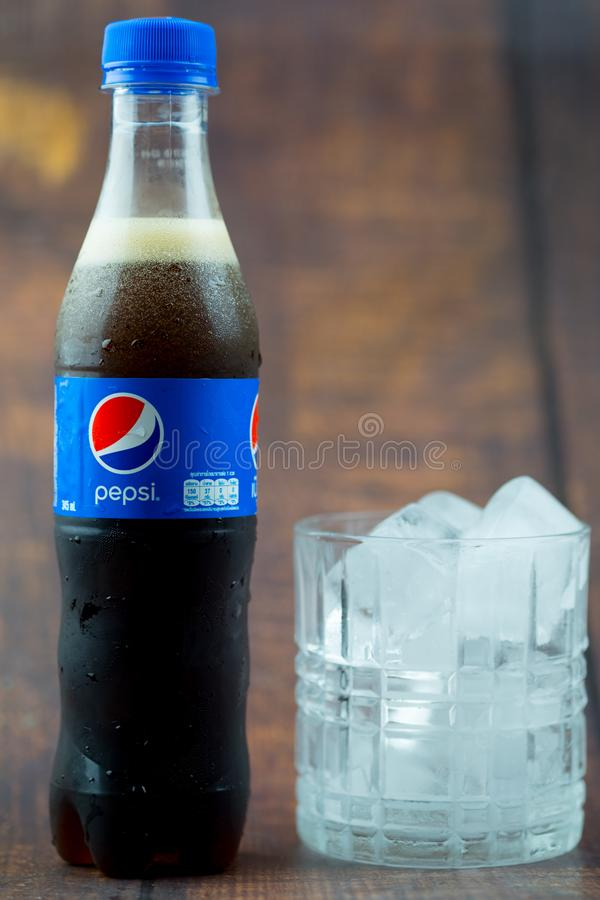 Samutprakarn, Thailand - 30 June, 2019. Pepsi soft drink. Pepsi is a carbonated soft drink produced and manufactured by Pepsi Co I stock photos