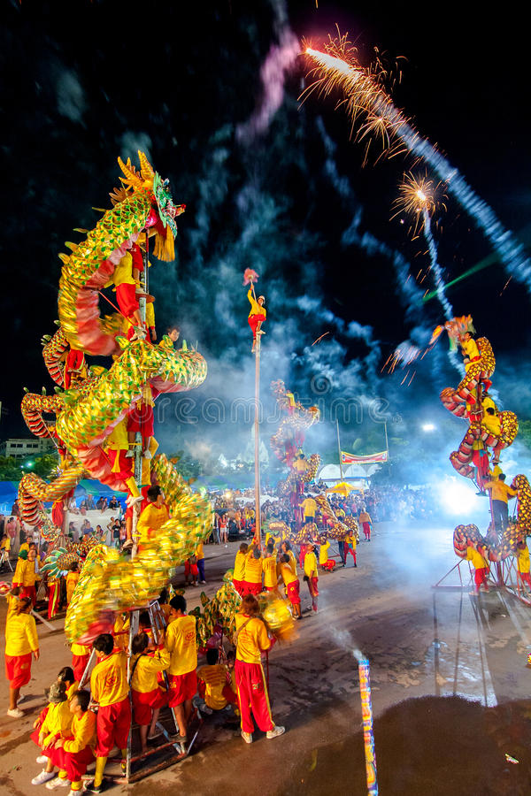 Download SAMUTSAKHON, THAÏLANDE : 31 MAI : Exposition D'or De Dragon Dans Le Samutsak Photo stock éditorial - Image du lanterne, exposition: 56480308