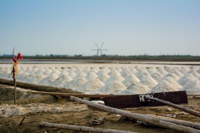 Samutsakorn dell'azienda agricola del sale fotografia stock