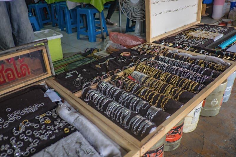 Selling accessories shop in Amphawa Floating market at Samut Songkhram Thailand. Samutsongkhram/Thailand - 16 September 2107 :Selling accessories shop in royalty free stock photos