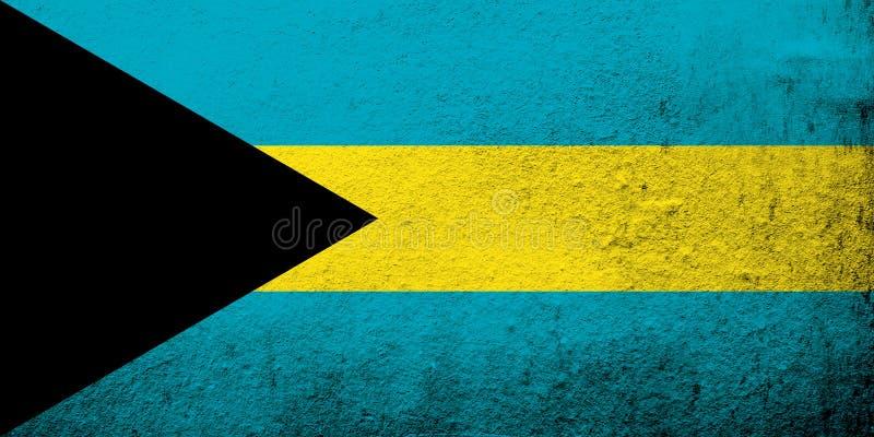 Samväldet Bahamas nationsflagga Kan användas som en vykort stock illustrationer