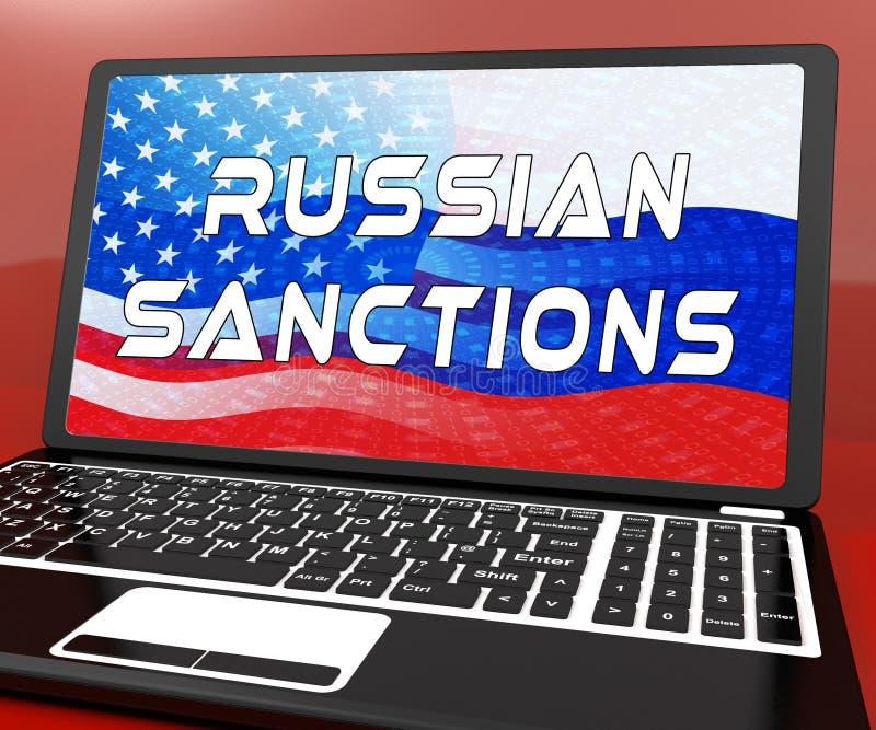 Sanções de Rússia do trunfo que depositam o embargo na Federação Russa - ilustração 3d ilustração royalty free