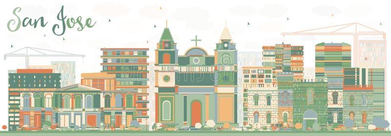 San abstracto Jose Skyline con los edificios del color libre illustration
