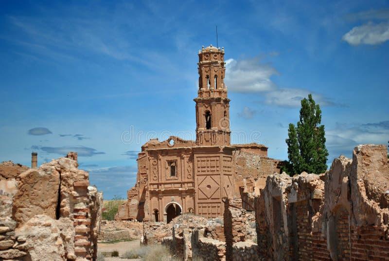 Download San Agustin Church In Belchite Stock Image - Image: 24544811