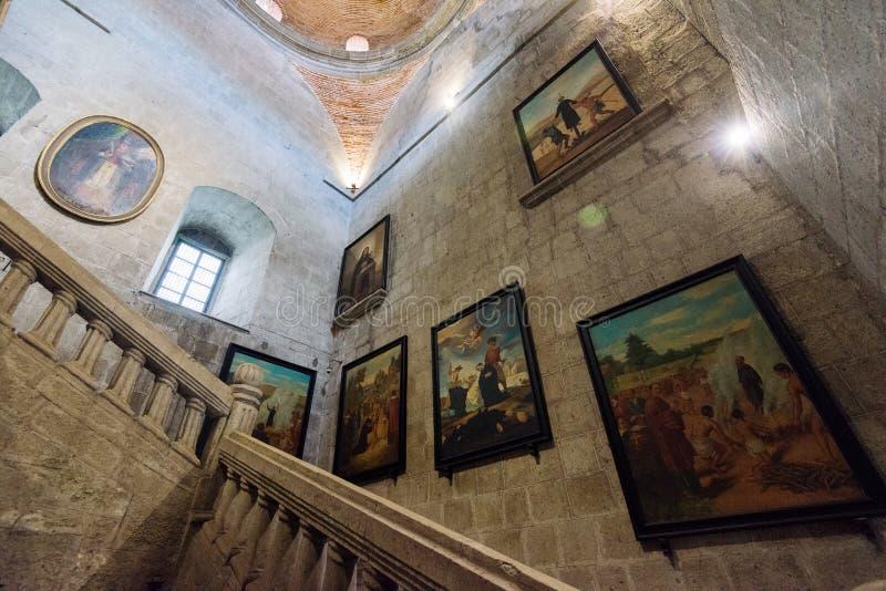 San Agustin Church dentro intra muros, Manila Filipinas foto de stock royalty free
