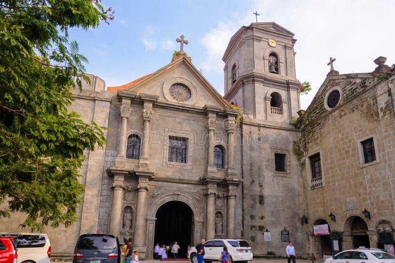 San Agustin Church em Manila foto de stock