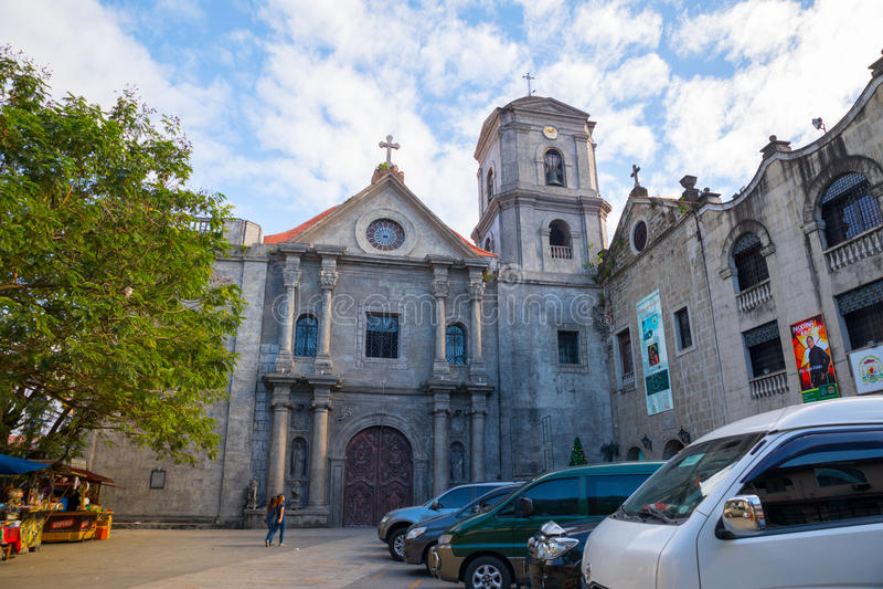 San Agustin Church i Manila royaltyfria bilder