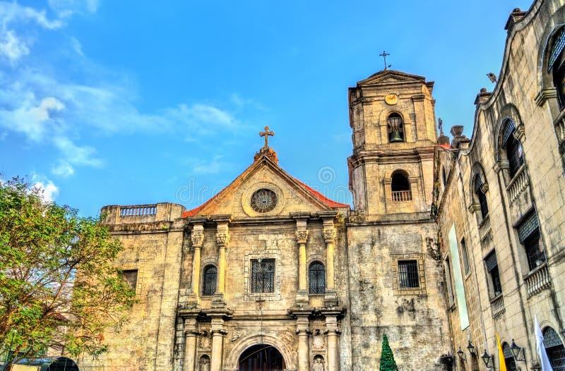 San Agustin Church i Manila, Filippinerna arkivbild