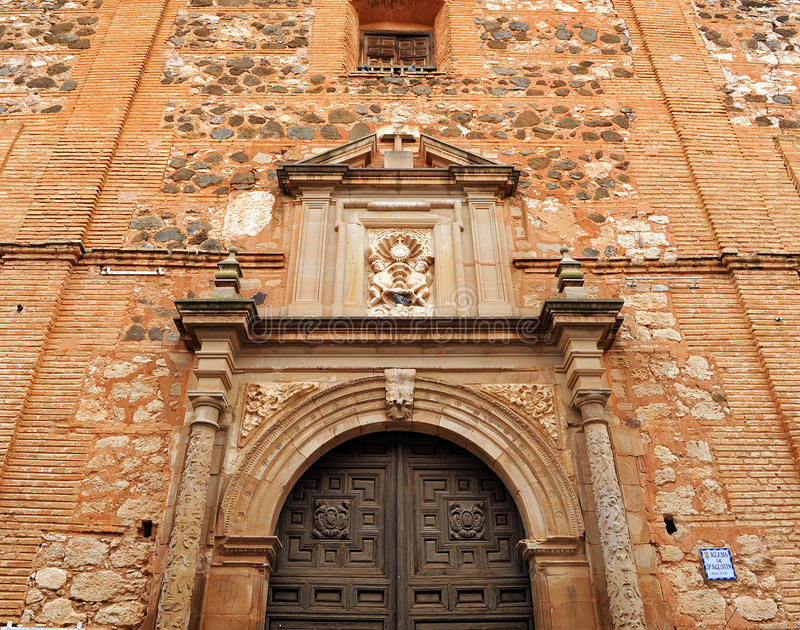 San Agustin Church, La Mancha de Almagro, Castilla, Espanha fotografia de stock royalty free