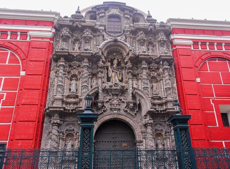 San Agustin Church - Lima, Peru imagem de stock royalty free