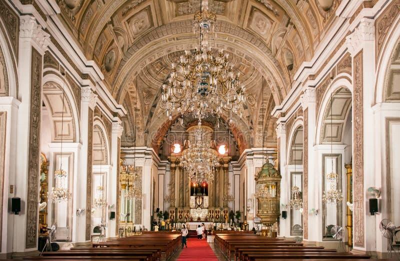 San Agustin Church, Manila, Filipinas imagem de stock