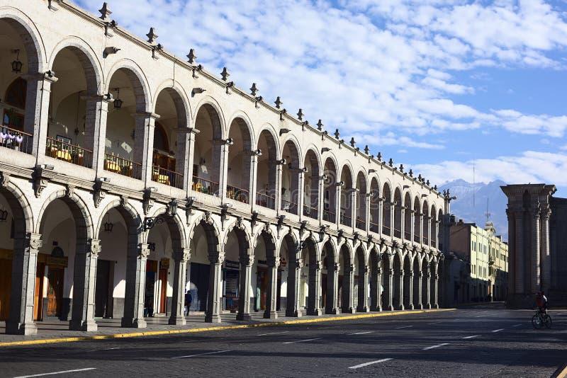 San Agustin portal em Arequipa, Peru imagem de stock royalty free