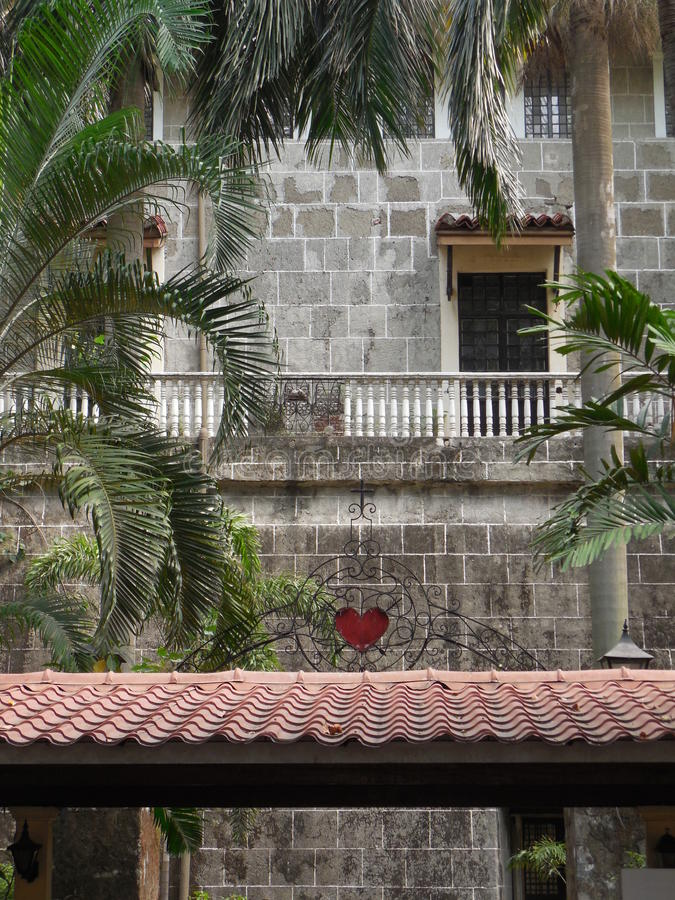 San Agustine Church Courtyard royalty free stock photo
