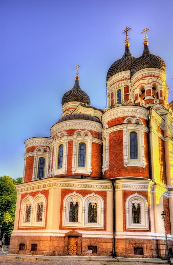 San Alexander Nevsky Cathedral a Tallinn immagini stock