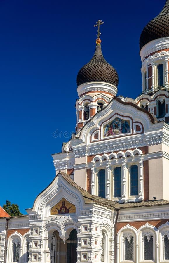 San Alexander Nevsky Cathedral a Tallinn fotografia stock