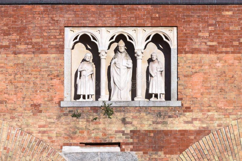 San Ambrose Statue immagine stock