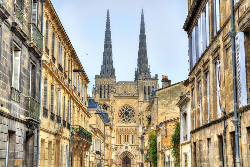 San Andre Cathedral del Bordeaux, Francia fotografie stock libere da diritti