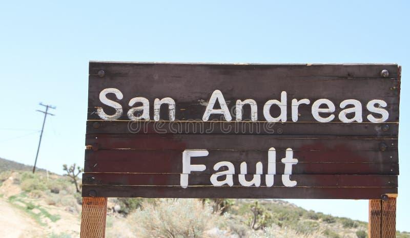 San Andreas usterki znak obraz royalty free