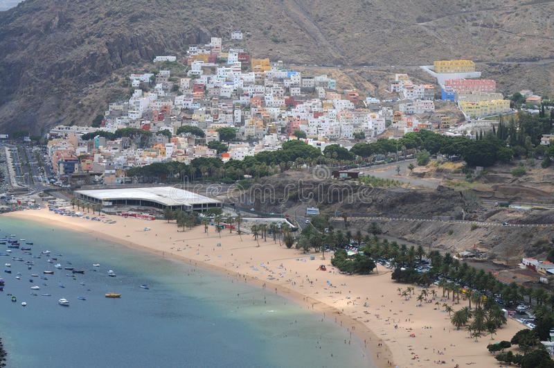 San Andres. Playa de las Teresitas and San Andres on Teneriffa royalty free stock images