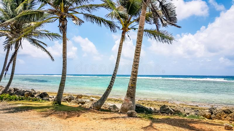 San Andres Island Colombia Beach Scene Zuid-Amerika stock foto's