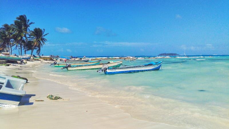 San Andres Main Beach royalty-vrije stock fotografie