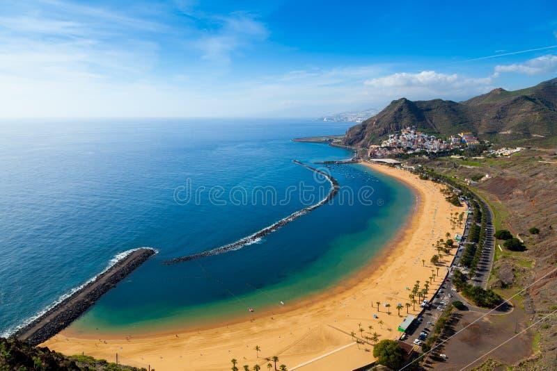 San Andres Village and Las Teresitas Beach. Tenerife stock images