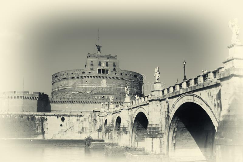 Download San Angelo Bridge And Castle In Rome,Italy Stock Image - Image: 8571993