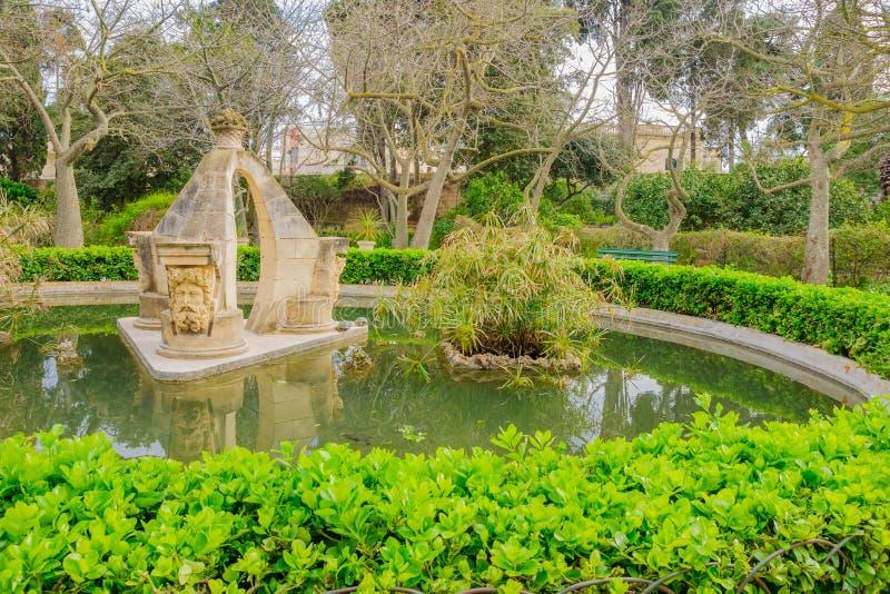 San Anton Gardens, i Attard arkivfoto