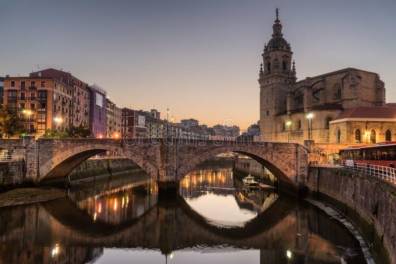 San Anton kyrka i Bilbao royaltyfri bild