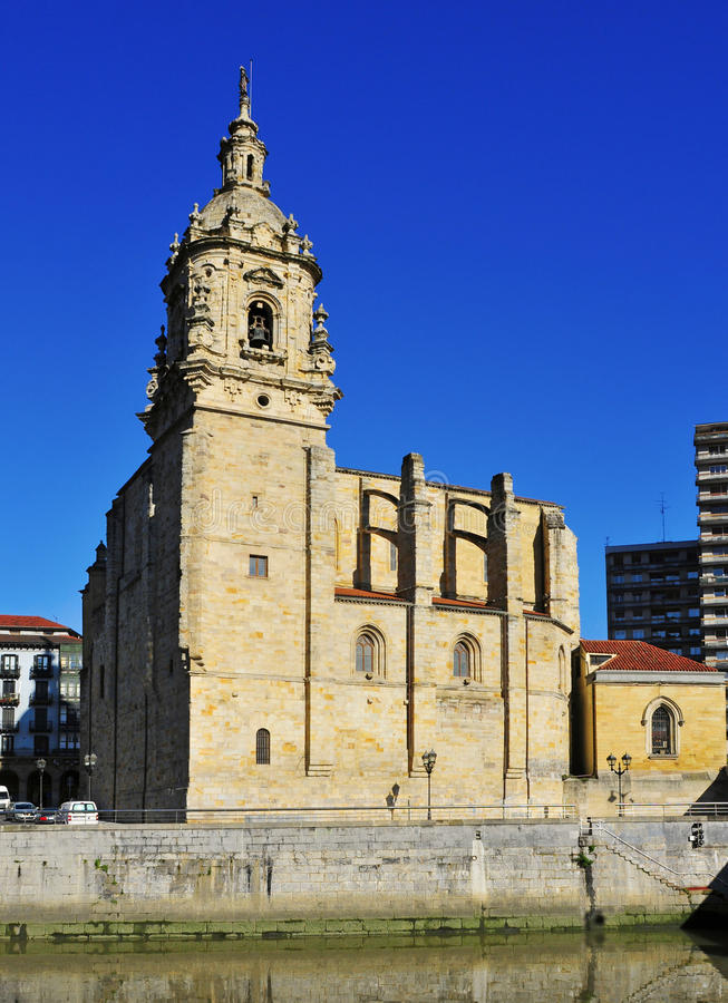 San Anton kyrka i Bilbao, Spanien royaltyfria bilder