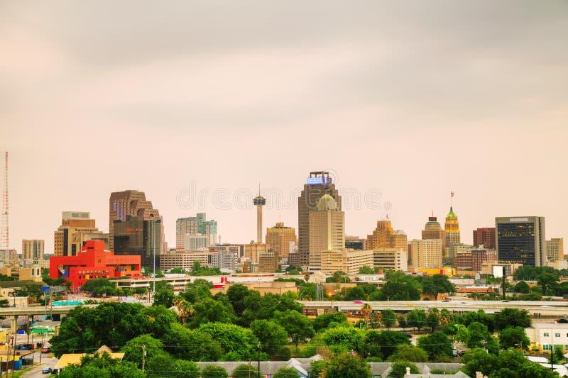 San Antonio, arquitetura da cidade de TX fotografia de stock royalty free