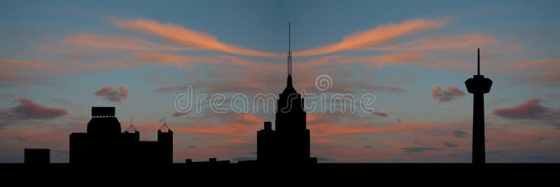 San Antonio bij zonsondergang vector illustratie