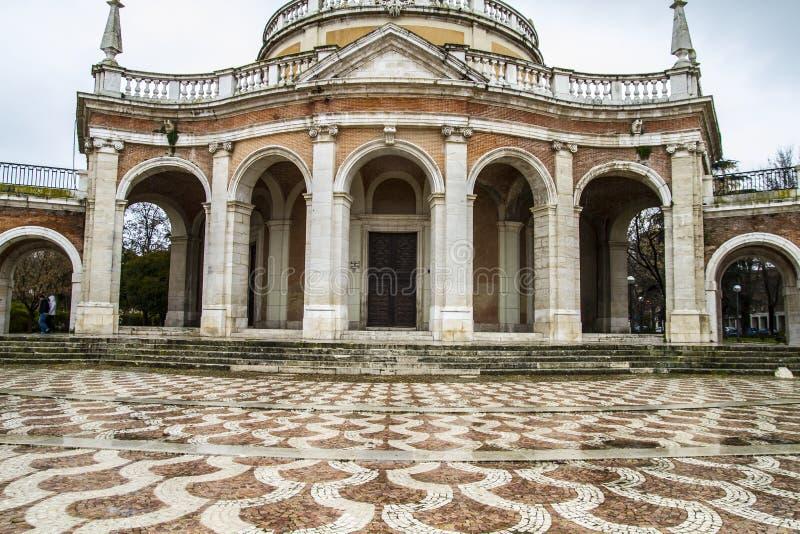 San Antonio Church. Palace of Aranjuez, Madrid, Spain royalty free stock image