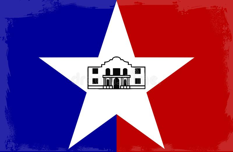 San Antonio City Flag stock illustratie