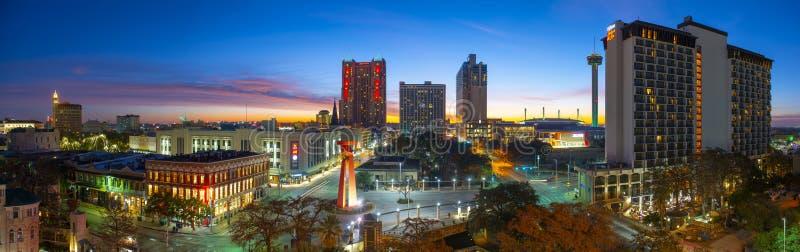 San Antonio city skyline at twilight, Texas, USA royalty free stock photo