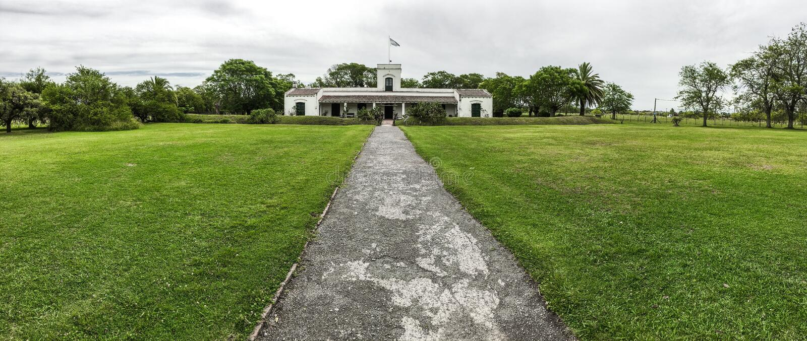 San Antonio de Areco. Colonial style building at San Antonio de Areco, Buenos Aires stock photography
