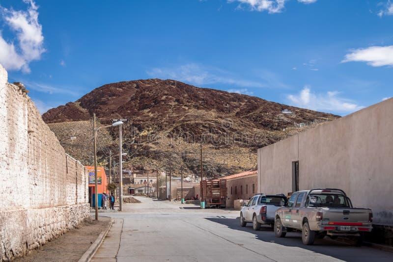 San Antonio de los Cobres Town - San Antonio de los Cobres, Salta, Argentine photographie stock