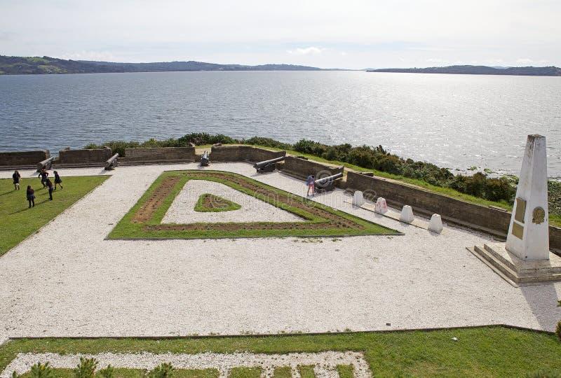 San Antonio fort på Ancud, Chiloe ö, Chile arkivbild
