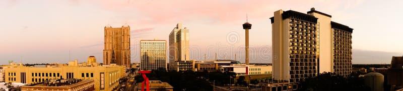 San Antonio linia horyzontu Szeroki Panoramiczny Południowy Cantral Teksas zdjęcia stock