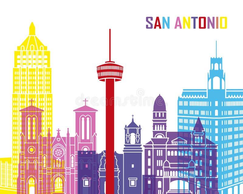 San Antonio linii horyzontu wystrzał ilustracji