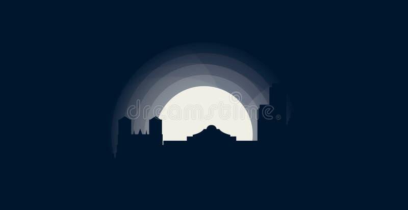 San Antonio miasta linii horyzontu sylwetki loga wektorowa ilustracja ilustracji