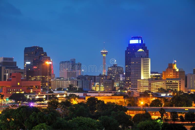 San Antonio, paesaggio urbano di TX immagine stock