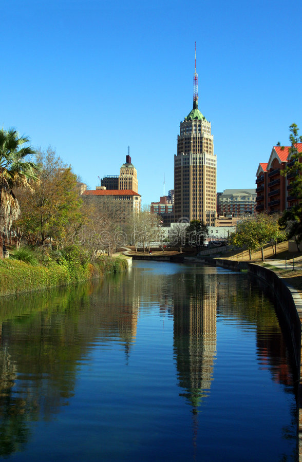Download San Antonio Reflection stock image. Image of calm, clear - 4757357