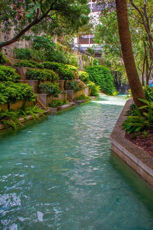 San Antonio River Canal fotografia de stock royalty free