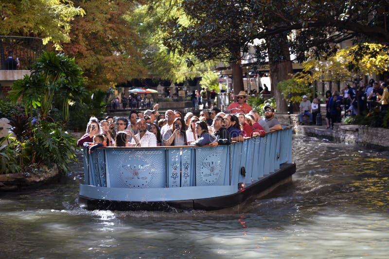 San Antonio Riverwalk Boat Ride, San Antonio, Tejas fotografía de archivo libre de regalías