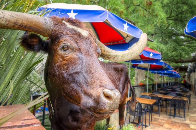 San Antonio Riverwalk Cafe stockfotos
