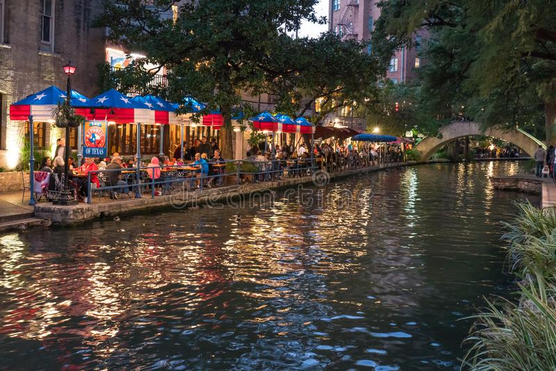 San Antonio Riverwalk, Texas stock foto's